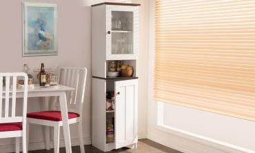 White Wood Kitchen Storage