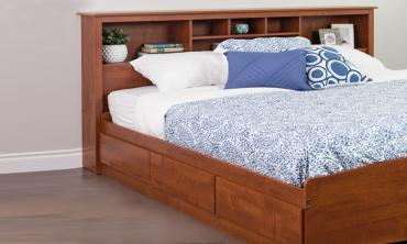 Book Case Classic Bed Frame with or without Mattress