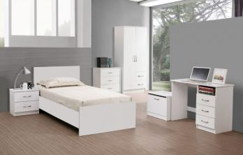Marina 5 Piece Bedroom Set White Gloss or White Ash