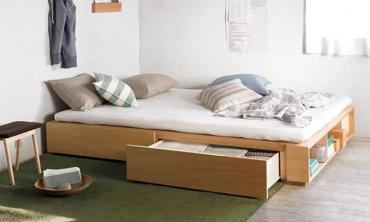 Solid MDF Wood Storage Bed