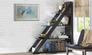 Dark Brown Modern Shelving Unit