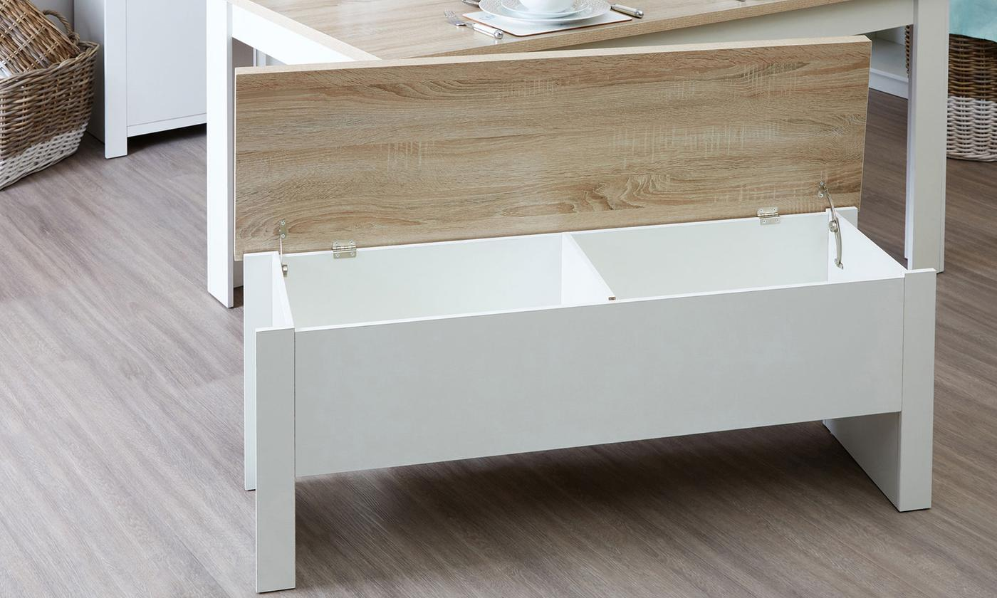 Small Or Large Dining Table With Benches From Aed 1049 A To Z Furniture