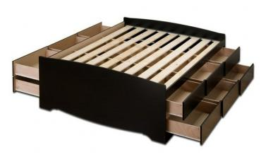 12-Drawer Captain's Platform Storage Bed