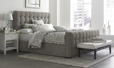 Padded Modern-Style Bed