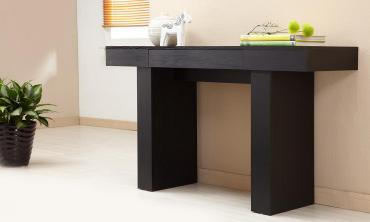 Modern Black Finish Hall Table