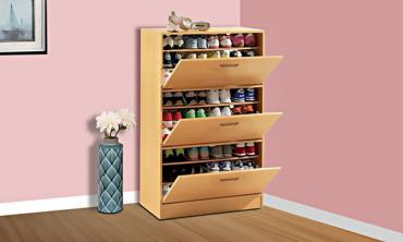 Three-Door Big Foot Shoe Cabinet