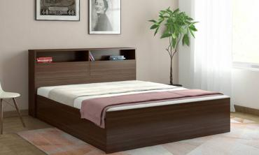 Engineered Wood Queen Bed With Storage