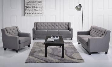 Arcadia Tufted Fabric Living Room Set (3-Piece)