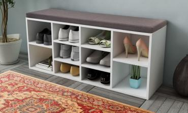 Siena 10-Pair Shoe Storage Bench
