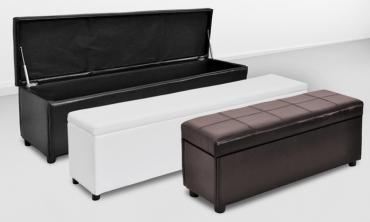 Leatherette Storage Benches in Choice of Size and Colour