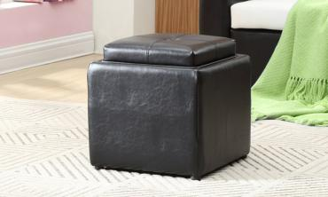 Ottoman with Flip Over Trays