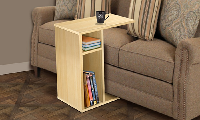 Sofa Table With Side Storage Slot From