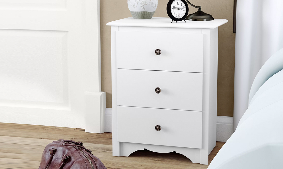 White 3 Drawer Tall Nightstand From Aed 649 A To Z Furniture