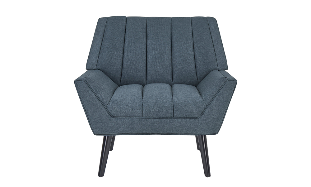 Houston Navy Blue Mid Century Modern Arm Chair From Aed
