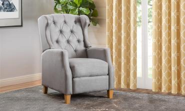 Grantham Fabric Tufted Club Chair