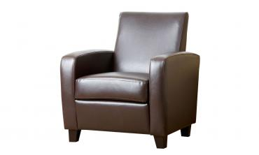 Mercer Black Bonded Leather Club Chair