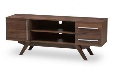 Ashfield Wood TV Stand (Dark Brown)