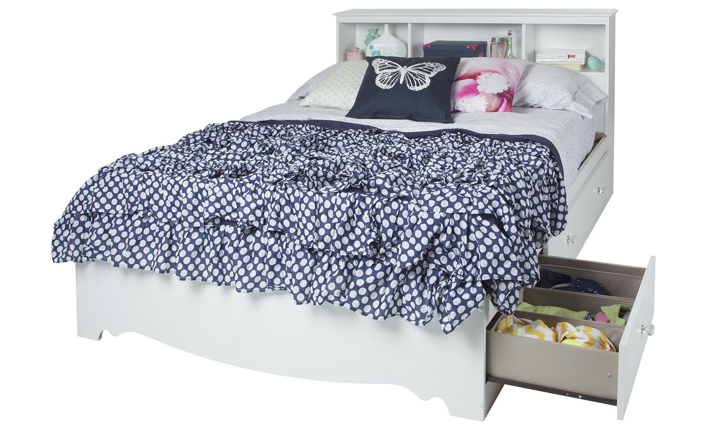 Reevo Full Mates Bed With Bookcase Headboard From Aed 1499