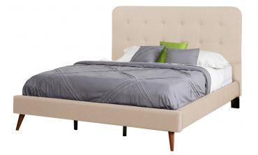 Garbo Mid Century Upholstered Bed