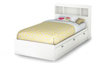 Spark Twin Mates Bed with Drawers and Bookcase Headboard