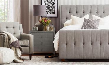 David Tufted Wingback Upholstered Bed