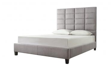 Luxurious Classic High-Profile Upholstered Bed