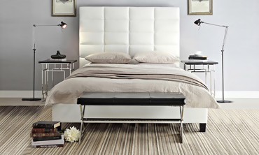 Luxurious Classic High Profile Upholstered Bed