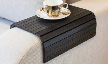 Lip Lap Flexible Sofa Arm Tray - Black