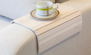 Lip Lap Flexible Sofa Arm Tray - Off White