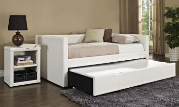 Lindsey Twin Daybeds with Trundle Beds with Mattresses in Choice of Co...