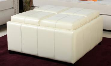 Durango 4-Tray-Top Storage Ottoman Coffee Table