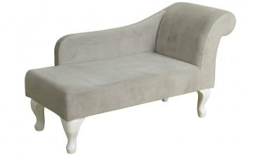 Juvenile Chaise Lounge in Pink Velvet