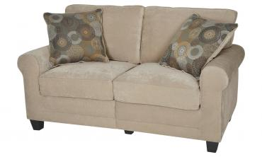 Copenhagen Collection 61-inch Marzipan Tan Loveseat