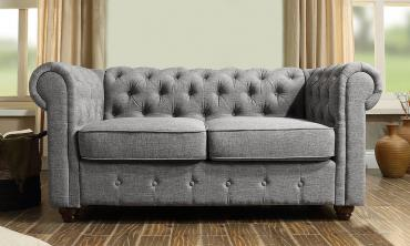 Garcia Hand-tufted Rolled Arm Loveseat