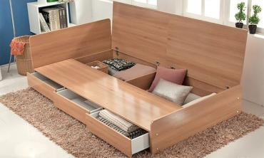 Three-Drawer Storage Bed