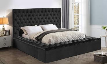 Bliss Velvet Upholstered Bed