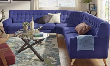 Modern Tufted Fabric 7-seat L-Shaped Sectional