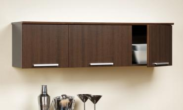 Espresso Wall-Mounted Hutch