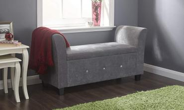 Diamante Chenille Storage Window Seat