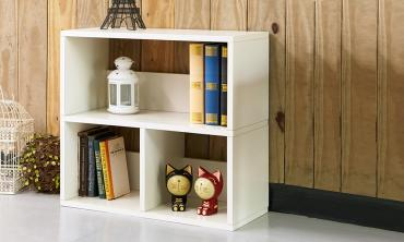 Collins Eco 2-Shelf Cubby Bookcase Storage