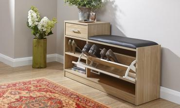 Hallway Shoe Bench with Seat