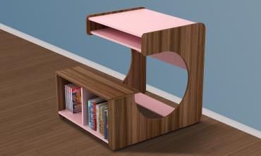 Kido Girl Study Desk in Pink