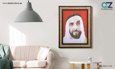 Framed Portraits of The Late Sheikh Zayed Bin Sultan Al Nahyan