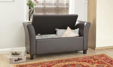 Verona Faux Leather Storage Window Seat