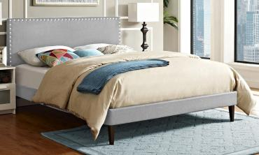Azure Upholstered Platform Bed