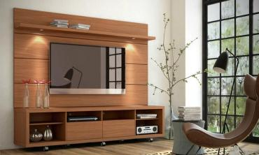 Cabrini TV Stand and Floating Wall TV Panel with LED Lights