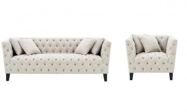 Lenita Chesterfield Sofa and Chair