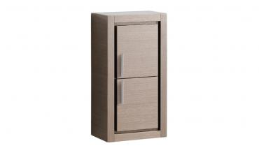 Oak Bathroom Linen Side Cabinet with 2 Doors