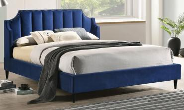 Upfield Navy Blue Platform Bed