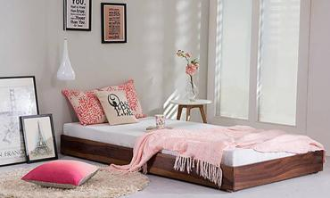 Wooden Single Trundle Bed